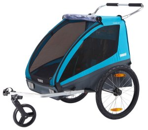 Trailer de Bicicleta para Gêmeos Coaster XT (até 45 kg) - Azul - Thule