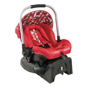 Bebê Conforto com Base Caracol (até 13 kg) - Vermelho Xadrez - Kiddo