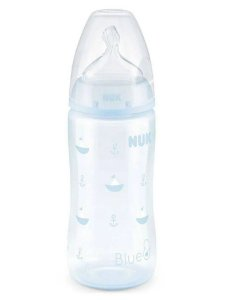 Mamadeira First Choice Tam.2 (6M+) 300ML Blue  - Nuk