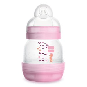 Mamadeiras Easy Start 130ml (+0M) - Rosa - MAM