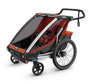 Carrinho de Bebê para Gêmeos Multi. Chariot Cross.2 (até 45 kg)  - Dark Shadow - Thule