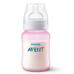 Mamadeira Anti Colica 260ml Tam 1. - Rosa - Philips Avent