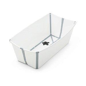 Banheira Flexível com Plug Térmico (até 4 anos) - Cinza - Stokke