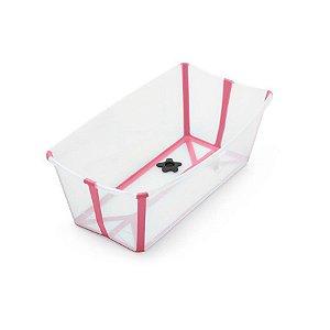Banheira Flexível com Plug Térmico (até 4 anos) - Rosa - Stokke
