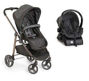 Carrinho de Bebê Travel System Olympus com Base (até 15 kg) - Preto - Galzerano