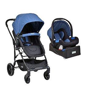 Carrinho de Bebê Convert+Bebê Conforto e Base Blue Burigotto