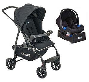 Carrinho de Bebê Travel System Ecco com Base (até 15 kg) - Preto - Burigotto
