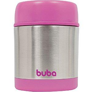 Pote Térmico com Parede Dupla 350ml - Rosa - Buba