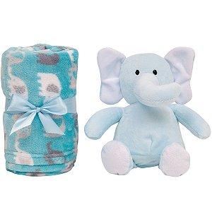 Gift Manta com Pelúcia Elefantinho Azul (0m+) - Buba