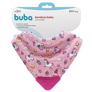 Bandana Baby Unicórnio Com Mordedor (3m+) - Buba