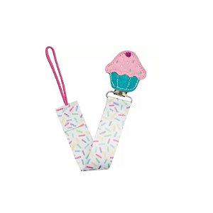 Prendedor de Chupeta (+3M) - Cupcake - Buba