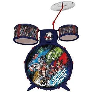 Bateria Acústica Infantil - Marvel Vingadores - Toyng