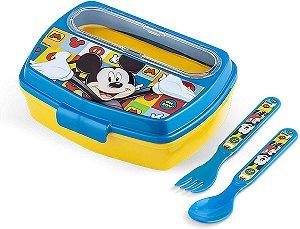 Lancheira com Talheres Disney Mickey - Lillo