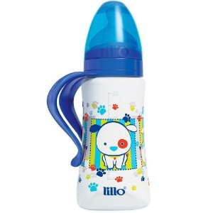Mamadeira Design 300ml Tam.2 (+6M) - Cachorrinho Azul - Lillo