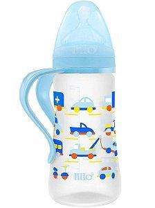 Mamadeira Design 300ml Tam.2 (+6M) - Carrinho Azul - Lillo