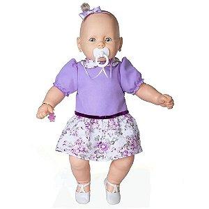 Boneca Meu Bebê vestido lilás 60 cm - Estrela