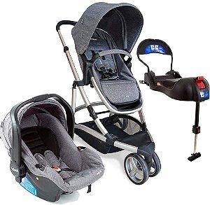 Carrinho de Bebê Travel System Trio Sky Grey Classic Infanti