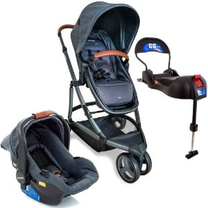 Carrinho de Bebê Travel System Trio Sky Grey Vintage Infanti