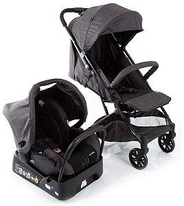Carrinho de Bebê Travel System Skill Trio (até 15 kg) - Black Denim - Safety 1st