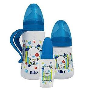 Kit 3 peças Mamadeira Design - Azul - Lillo