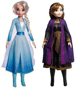 Conjunto Boneca Elza e Anna 55 cm Frozen - Baby Brink