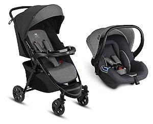 Conjunto Carrinho de Bebê Woya 0à15 kg Grey -CBX