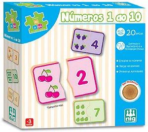 Jogo Educativo De Encaixar Números 1 ao 10 - NIG Brinquedos