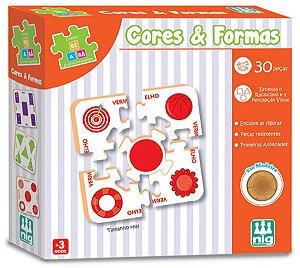 Jogo Educativo De Encaixar Cores E Formas - NIG Brinquedos