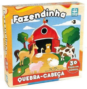 Quebra-Cabeça 30 Peças (+3 anos) - Fazendinha - NIG Brinquedos