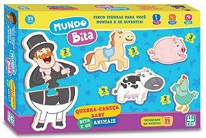 Quebra Cabeça Mundo Bita E Os Animais - NIG Brinquedos