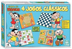 Jogo 4 Em 1 Turma Da Mônica - NIG Brinquedos