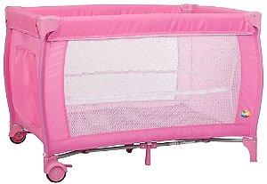Berço Portátil Soneca (até 15 kg) - Rosa - Tutti Baby