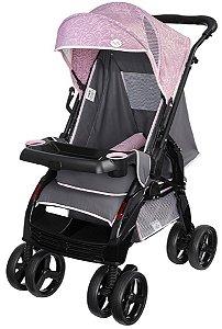 Carrinho de Bebê Uper (até 15 kg) - Rosa - Tutti Baby