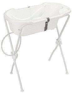 Banheira Ergonômica Safety & Comfort com Suporte (até 2 anos) - Branco - Tutti Baby