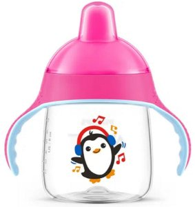 Copo Pinguim Rosa 260ml - Philips Avent