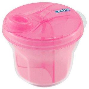 Dosador De Leite Em Pó E Porta Biscoito Rosa - Comtac Kids