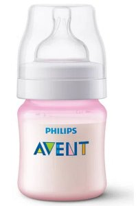 Mamadeira Anti Cólica 125ml Rosa (+0m) - Philips Avent
