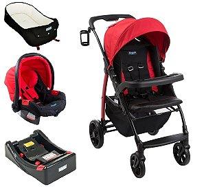 Conjunto Carrinho de Bebê Modulo - Red - Burigotto