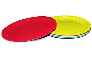 Kit 5 Uni. Pratos Plásticos (+18 M) - Comtac Kids