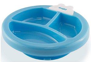 Prato Térmico Com Sensor De Temperatura Azul Comtac Kids