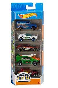 Conjunto de Carros City (+3 anos) - Hot Wheels - Mattel