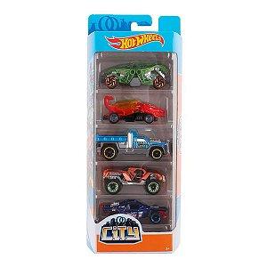 Conjunto 5 Carros City Hot Wheels - Mattel
