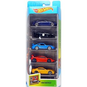 Conjunto 5 Carros Hw Exotics Hot Wheels - Mattel
