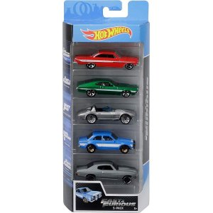 Conjunto 5 Carros Fast & Furious Hot Wheels - Mattel