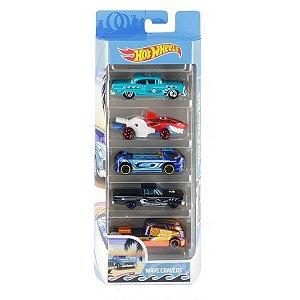 Conjunto 5 Carros Wave Cravers Hot Wheels - Mattel