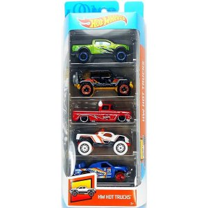 Conjunto 5 Carros Hot Trucks Hot Wheels - Mattel