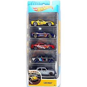 Conjunto 5 Carros Car Meet Hot Wheels - Mattel