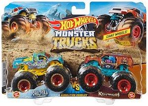 Monster Trucks Raijyu VS Kovmort Hot Wheels - Mattel