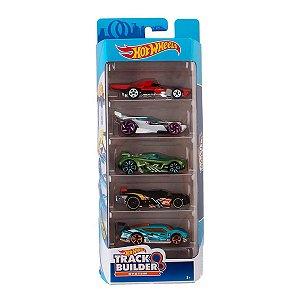 Conjunto 5 Carros Track Builder Hot Wheels FYL 22 - Mattel
