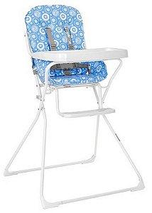 Cadeira De Refeição Bambini Azul - Tutti Baby